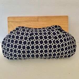 Old Navy Bag Purse Clutch Wood Unique Designer